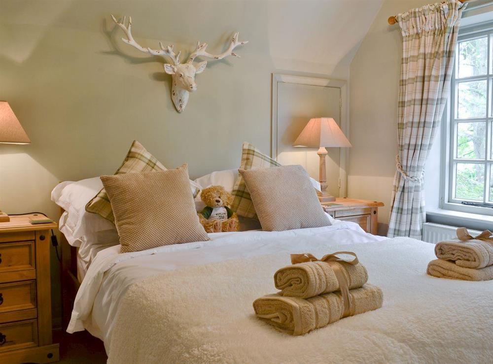 Comfortable double bedroom at Tickton Hall Cottage in Tickton, near Beverley, North Humberside