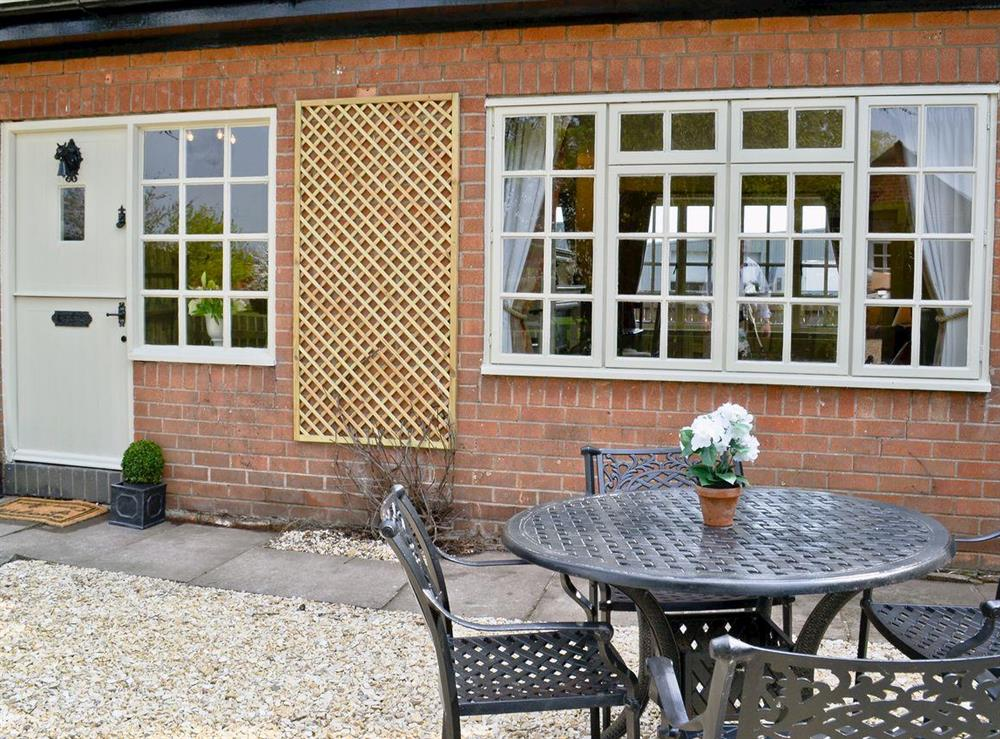 Patio at Tickton Hall Cottage in Tickton, near Beverley, North Humberside