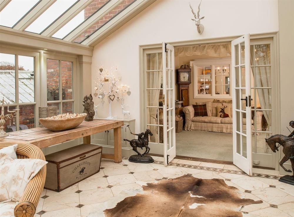 Sun room at Tickton Hall Cottages- Tickton Hall in Beverley, North Humberside