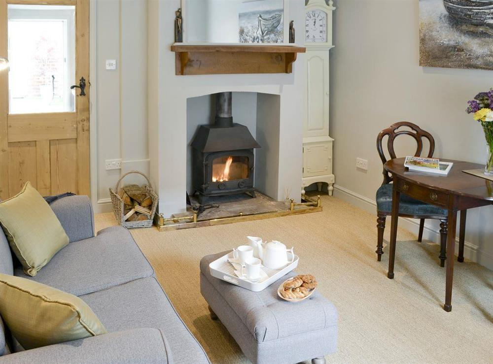 Stylish living area at Time Cottage in Coltishall, near Wroxham, Norfolk, England
