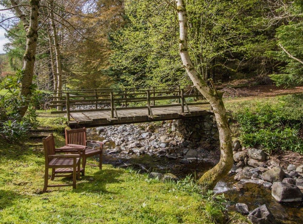 Sitting-out-area at Tinkerbell in Glenprosen, by Kirriemuir, Angus., Great Britain