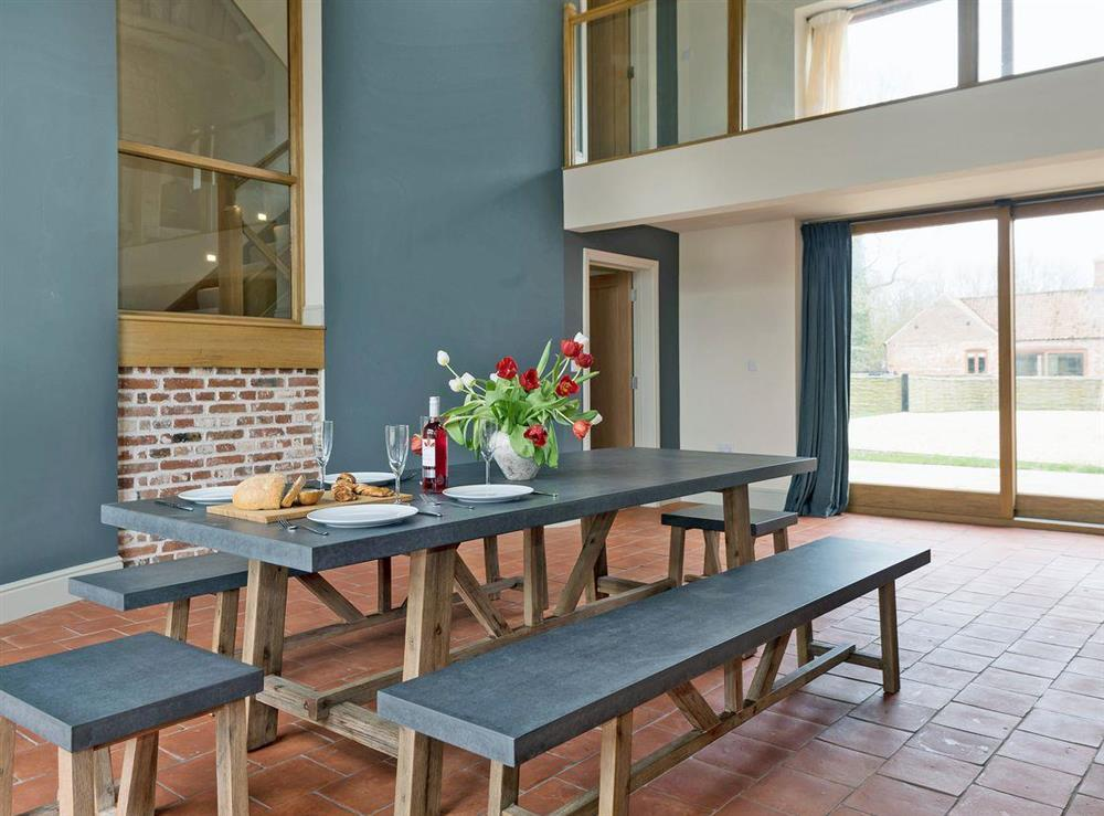 Contemporary dining area at Peak Hall,
