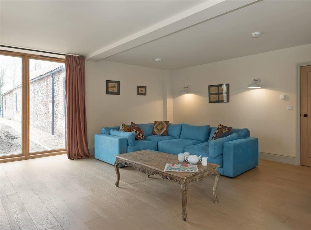 Welcoming living room at Peak Hall,