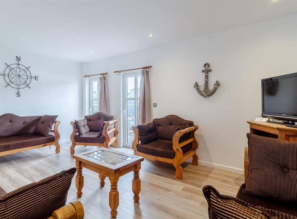 Living room at Top Sail in Wroxham, Norfolk
