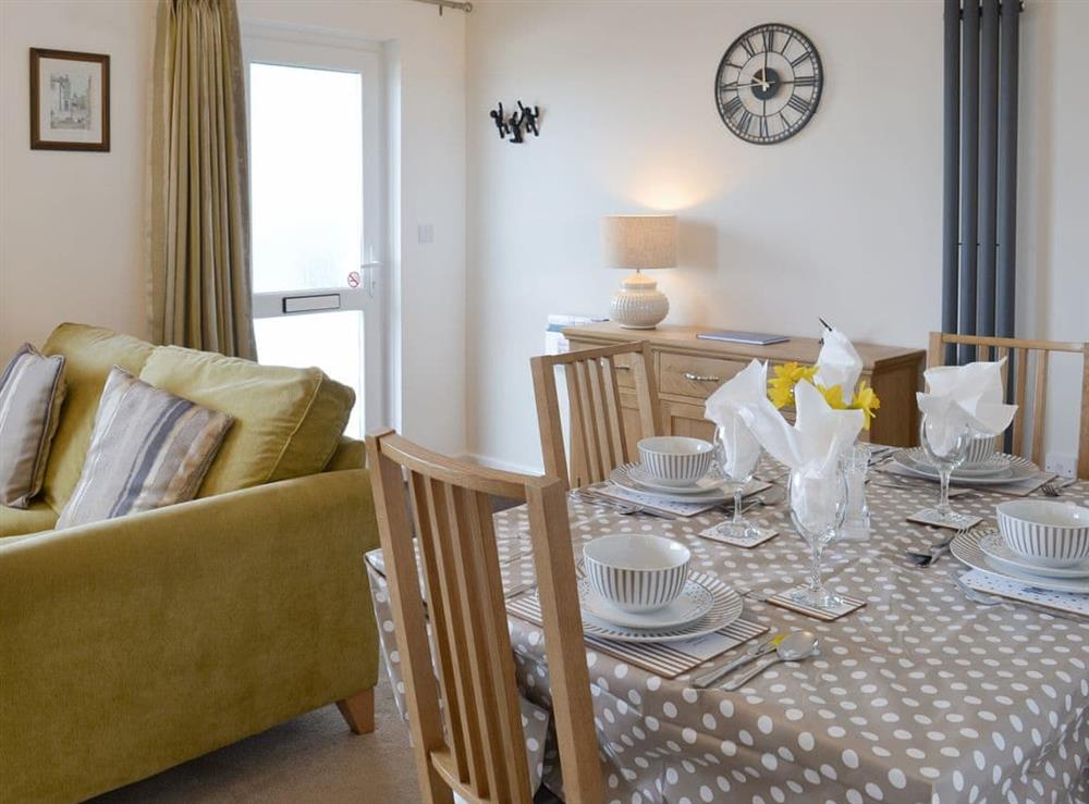 Convenient dining area at Torbay View in Brixham, Devon