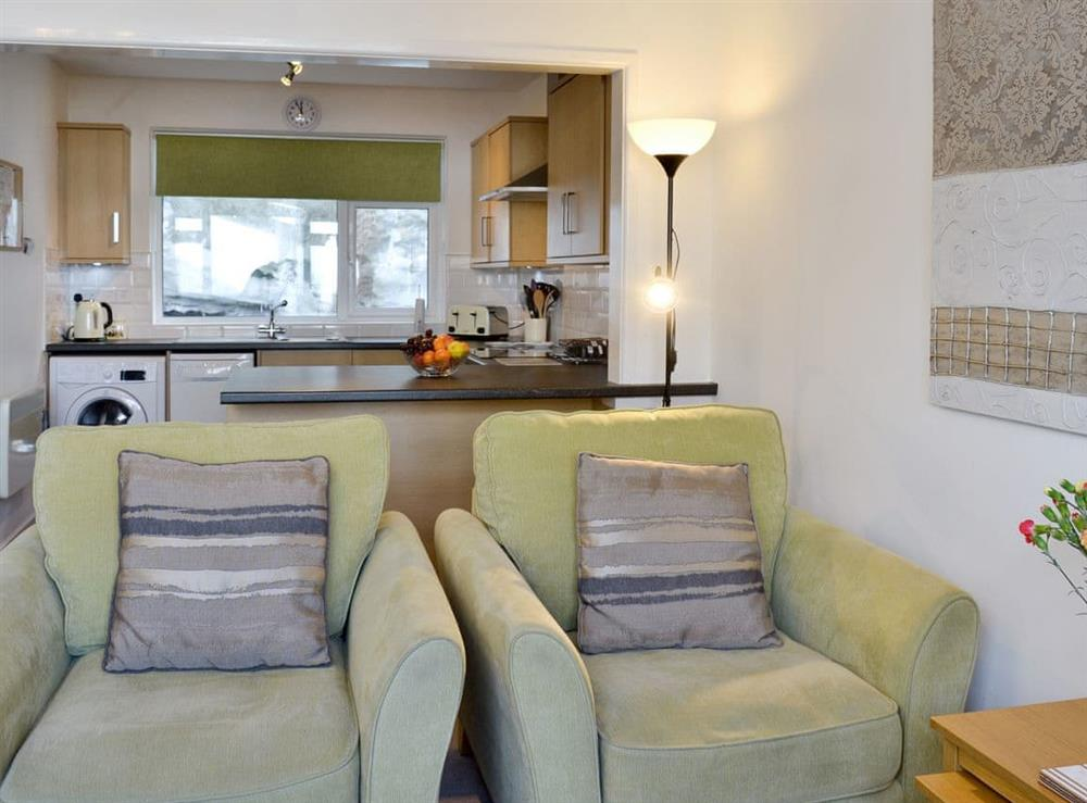 Open aspect to kitchen from the living areas at Torbay View in Brixham, Devon