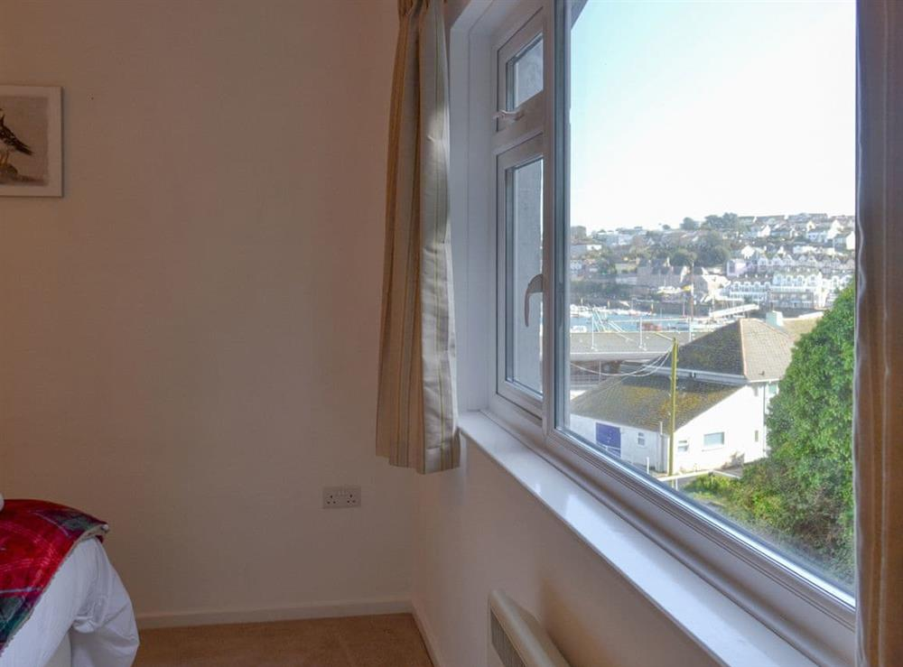 Views over the harbour from the double bedroom at Torbay View in Brixham, Devon
