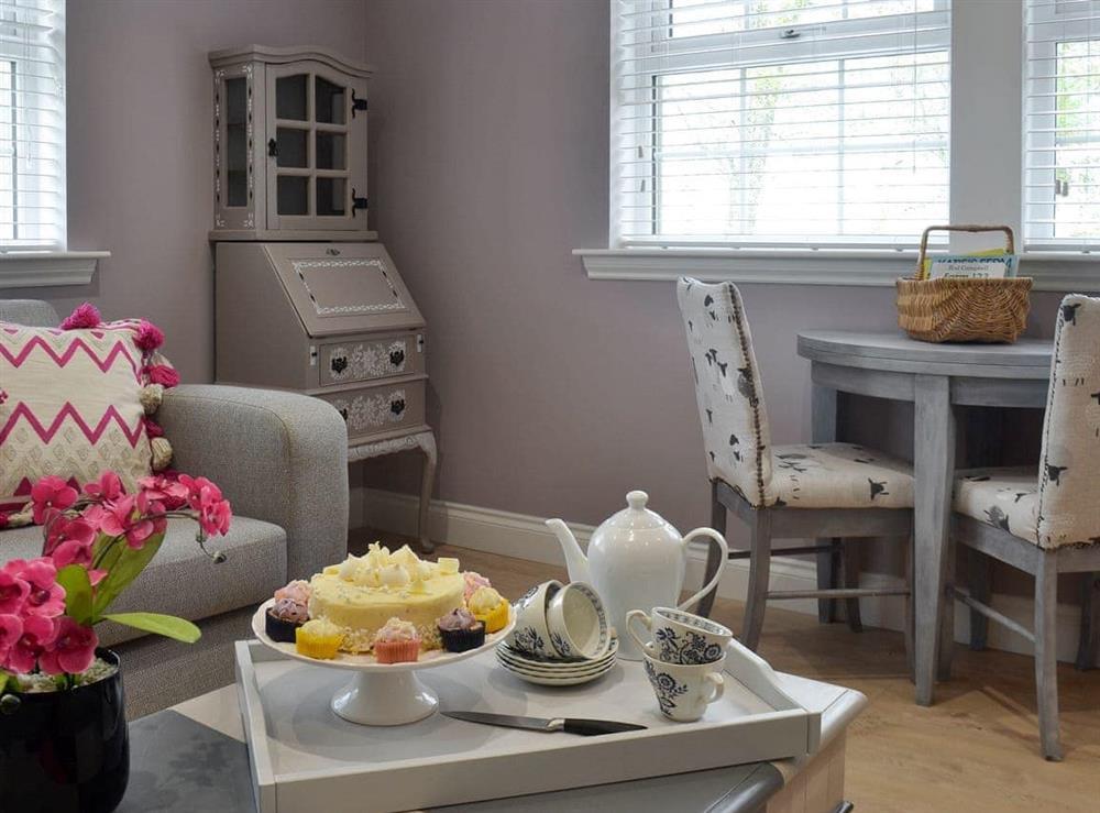 Cosy living room at Torcross Barn in Tarbolton, near Ayr, Ayrshire