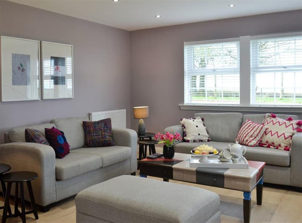 Lounge area at Torcross Barn in Tarbolton, near Ayr, Ayrshire