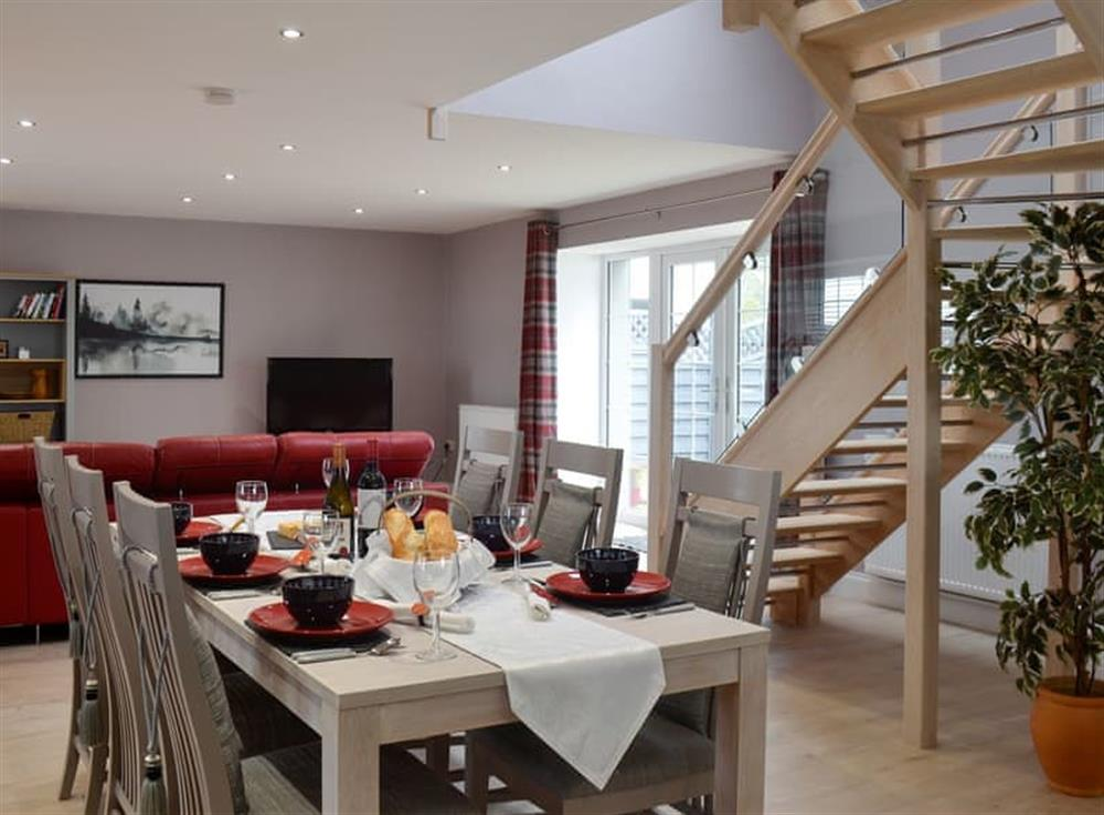 Open plan living space at Torcross Barn in Tarbolton, near Ayr, Ayrshire