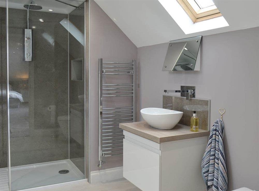 Shower room at Torcross Barn in Tarbolton, near Ayr, Ayrshire