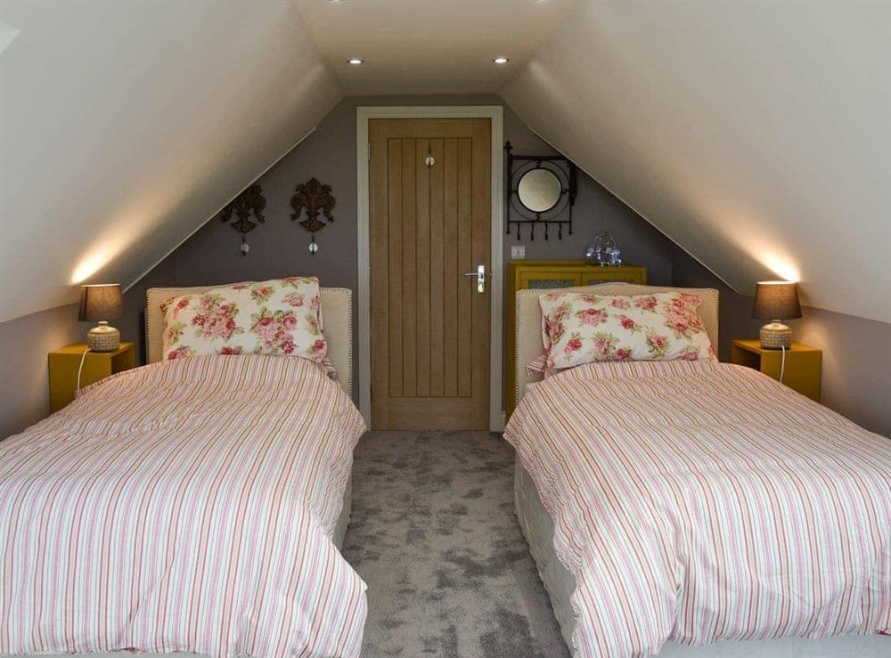 Twin bedroom at Torcross Barn in Tarbolton, near Ayr, Ayrshire