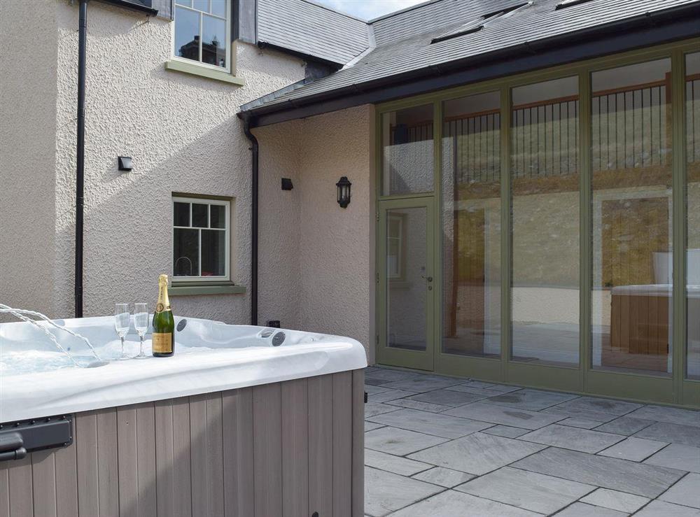 Relaxing family sized hot tub at Trecift in Llangoedmor, near Cardigan, Cardigan/Ceredigion, Dyfed