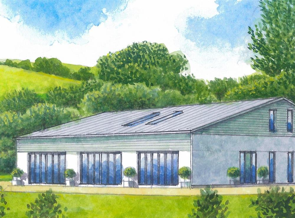Artist's Impression at Tree Park in Halwell, near Totnes, Devon