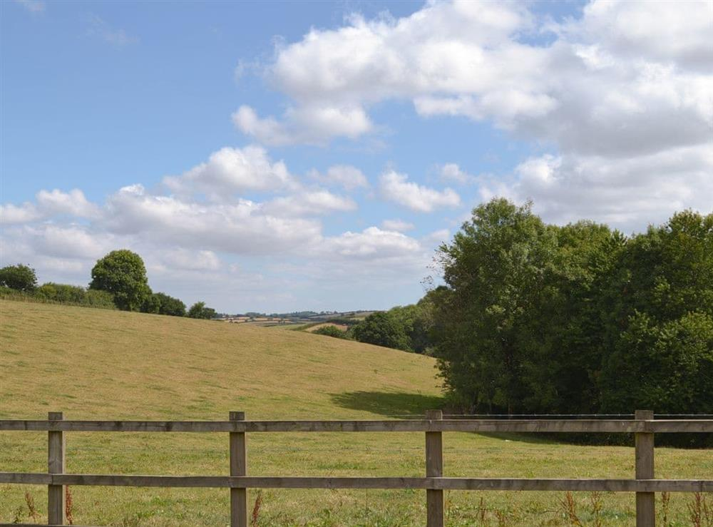 Lovely rural views at Tree Park in Halwell, near Totnes, Devon