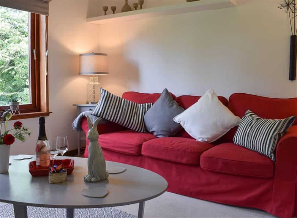 Living room at Tree Tops in Crieff, Perthshire