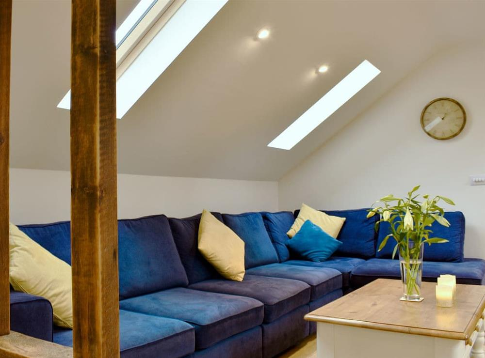 Comfortable living area at Tree View Lodge in Uggeshall, Suffolk