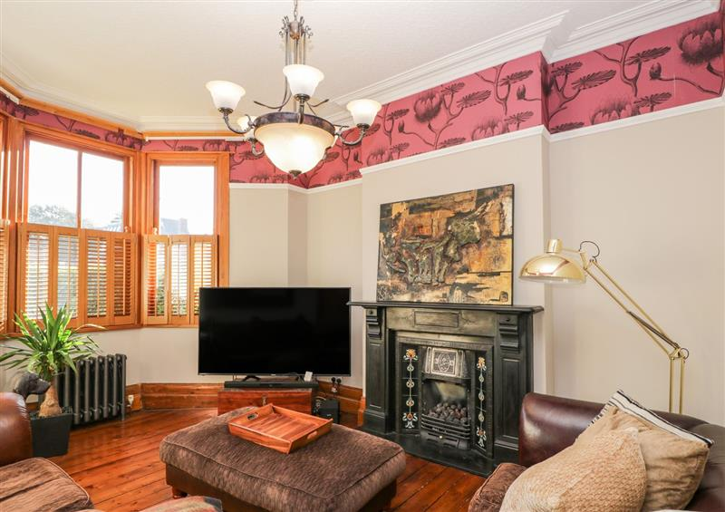 This is the living room at Treehaven, Penarth