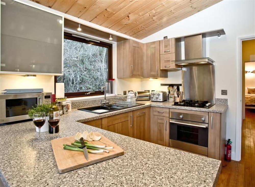 Kitchen at Treetops at Gara Mill in , Slapton