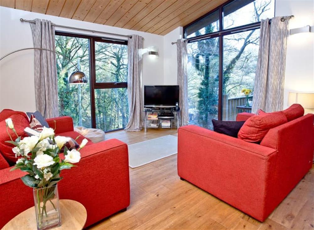 Living area at Treetops at Gara Mill in , Slapton
