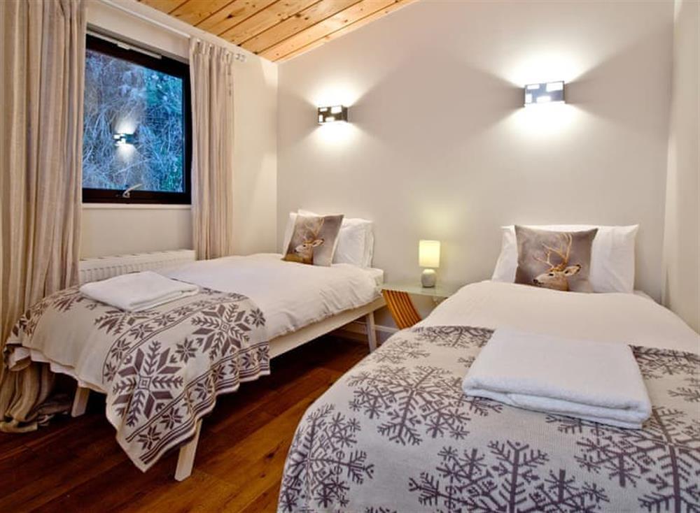 Twin bedroom at Treetops at Gara Mill in , Slapton