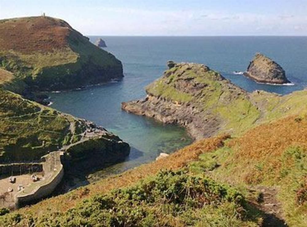 Boscastle habbour and coastgaurd lookout station