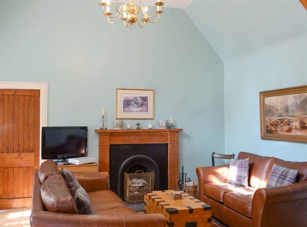 Comfortable living room at Tressady Coach House in Rogart, near Dornoch, Sutherland