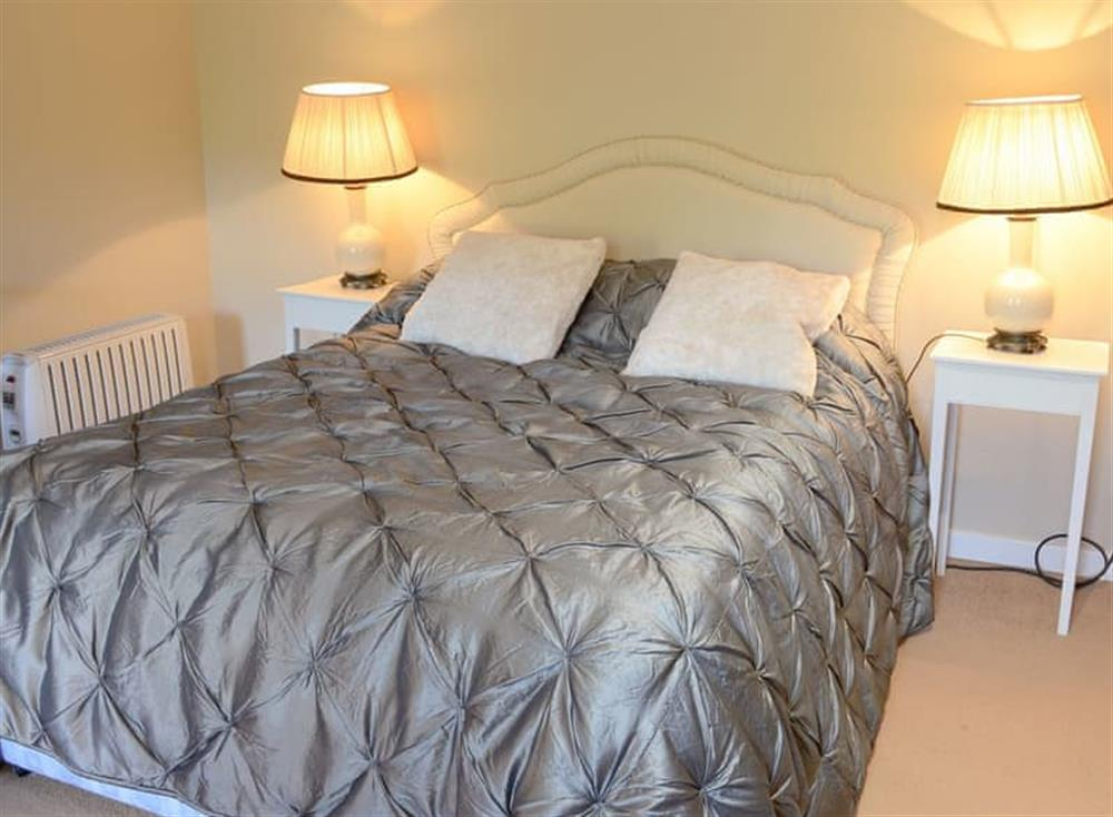 Comfortable double bedroom at Tressady Coach House in Rogart, near Dornoch, Sutherland