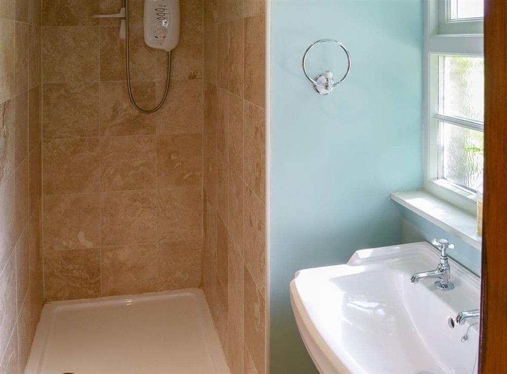 Shower room at Tressady Coach House in Rogart, near Dornoch, Sutherland