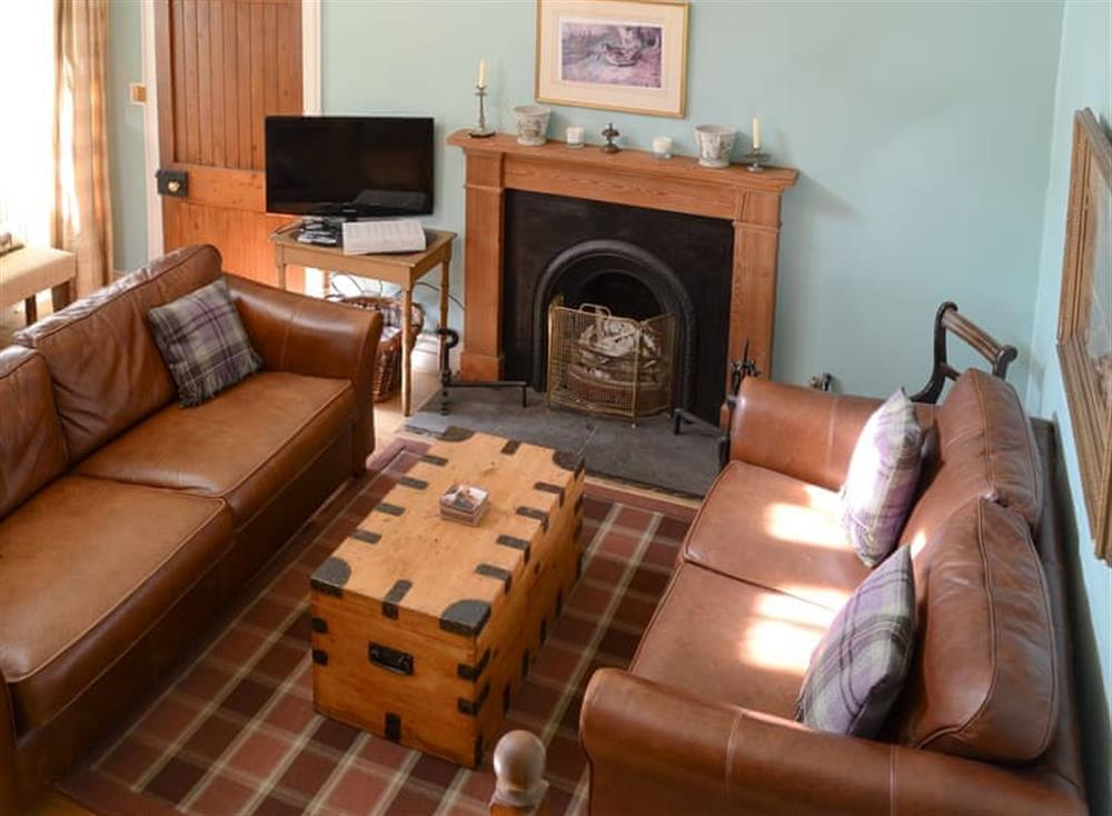Well presented living room at Tressady Coach House in Rogart, near Dornoch, Sutherland