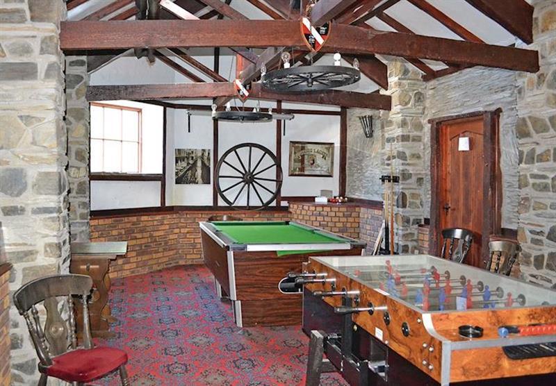 Games room at Trimstone Cottages in Trimstone, North Devon