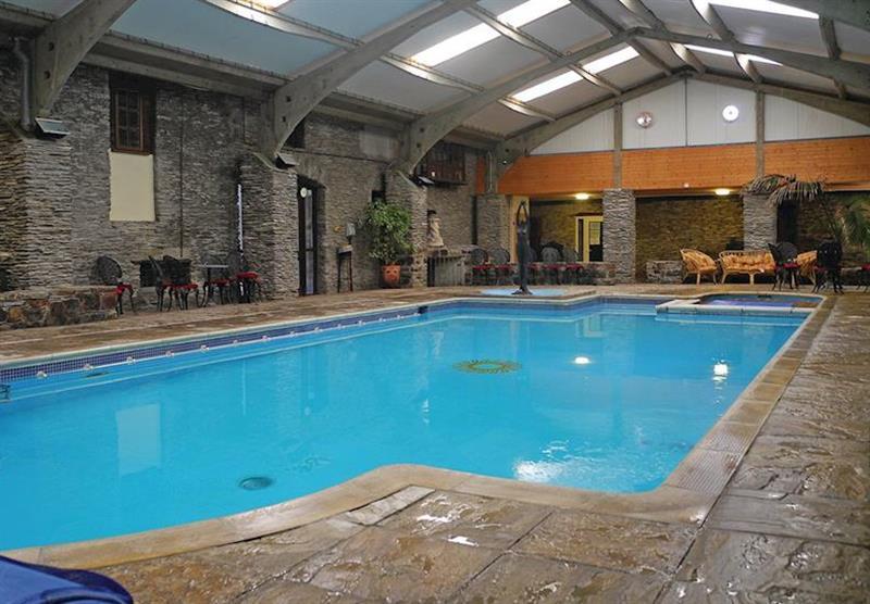 Indoor heated pool at Trimstone Cottages in Trimstone, North Devon