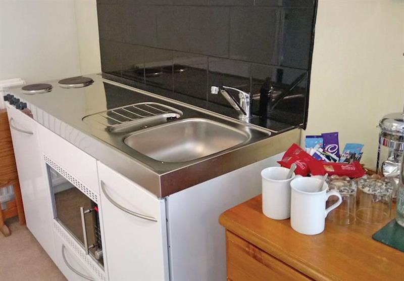 Kitchen in the Croyde Studio at Trimstone Cottages in Trimstone, North Devon