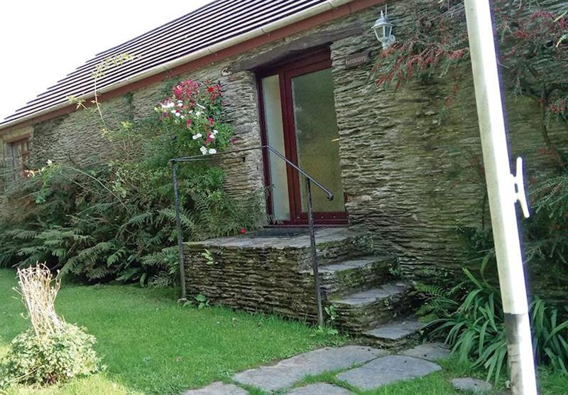Outside Granary Cottage at Trimstone Cottages in Trimstone, North Devon