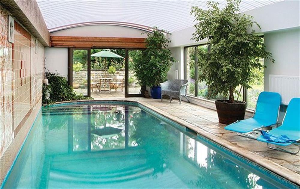 Use of indoor heated swimming pool and sauna (times by arrangement) - the pool is 15m x 4m and there are steps going into the water where the depth is 4' going down to 10'
