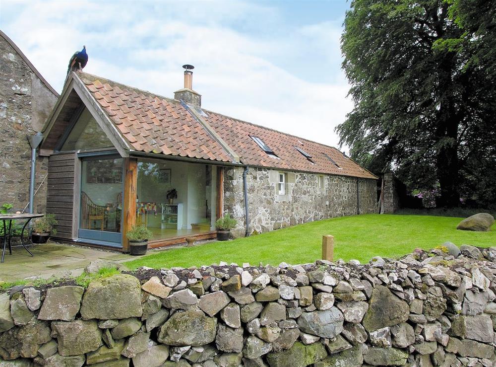 Exterior at Tullibole Castle Longhouse in Crook of Devon, Kinross-shire., Kinross-Shire