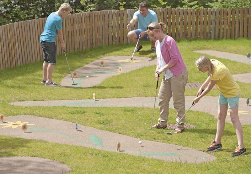 Crazy golf at Tummel Valley in Pitlochry, Perthshire & Southern Highlands