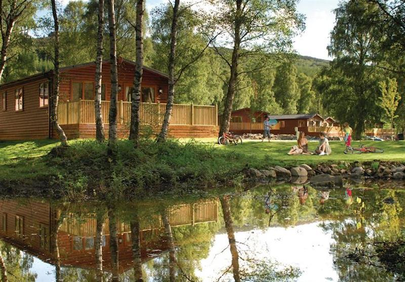 The lodge setting at Tummel Valley in Pitlochry, Perthshire & Southern Highlands