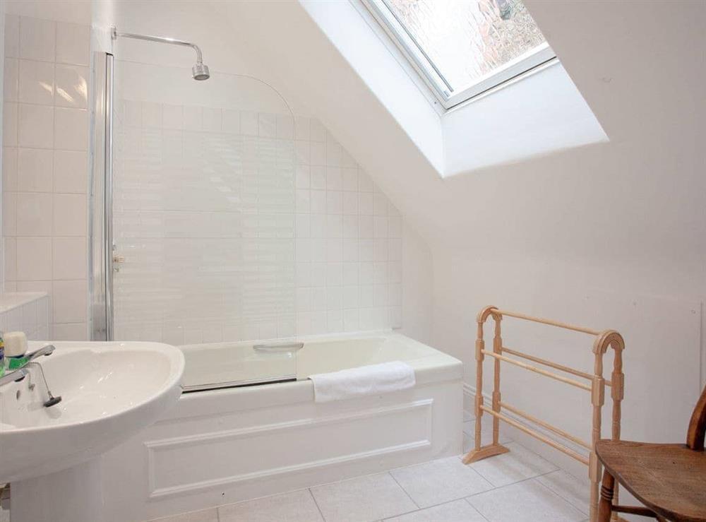 Bathroom at Turbine Cottage in Bow Creek, Nr Totnes, South Devon., Great Britain