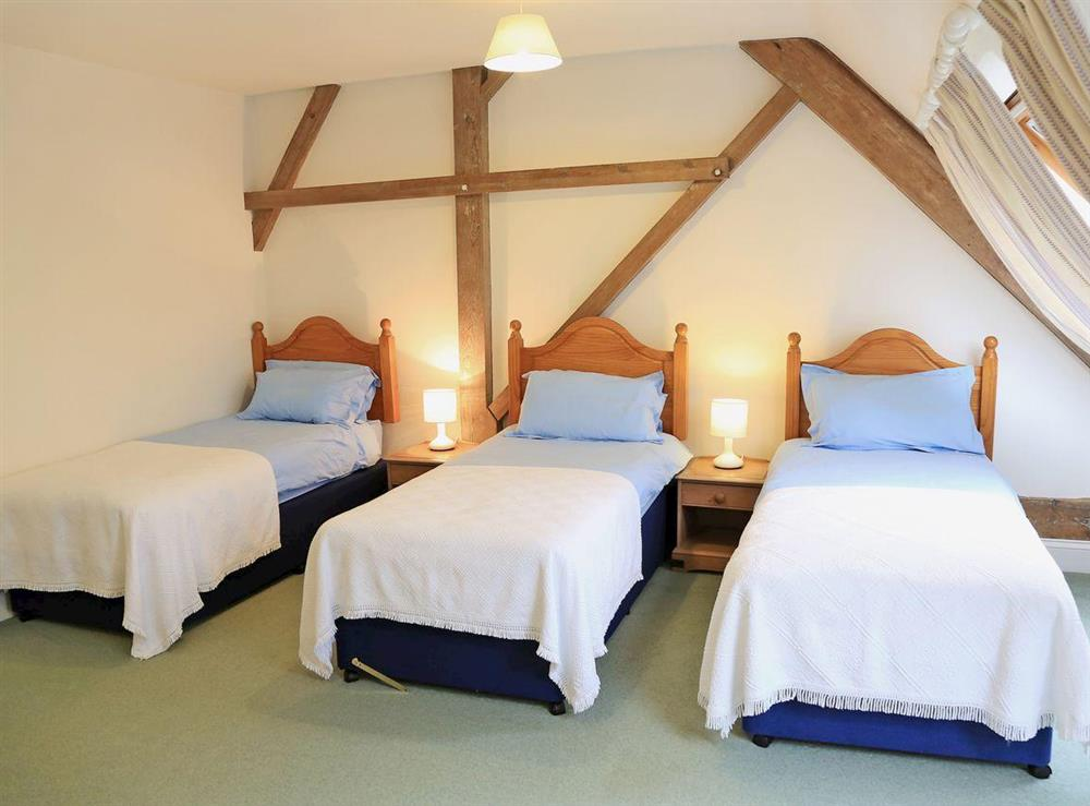 Bedroom at Turbine Cottage in Bow Creek, Nr Totnes, South Devon., Great Britain