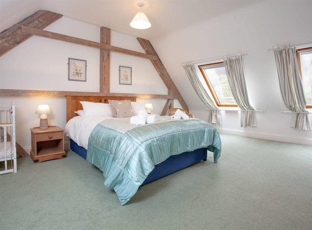 Double bedroom at Turbine Cottage in Bow Creek, Nr Totnes, South Devon., Great Britain