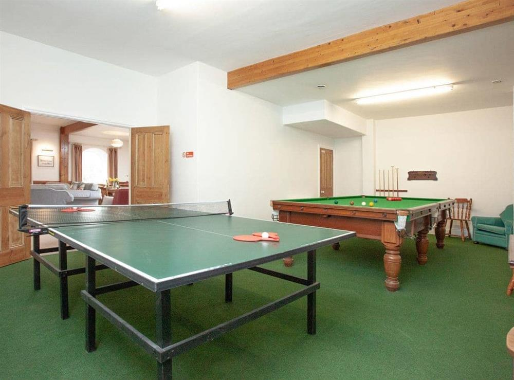Games room at Turbine Cottage in Bow Creek, Nr Totnes, South Devon., Great Britain