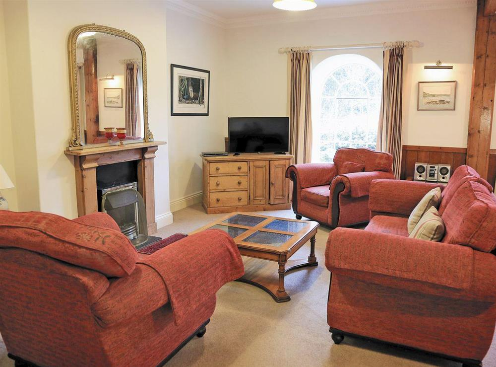 Open plan living/dining room/kitchen at Turbine Cottage in Bow Creek, Nr Totnes, South Devon., Great Britain