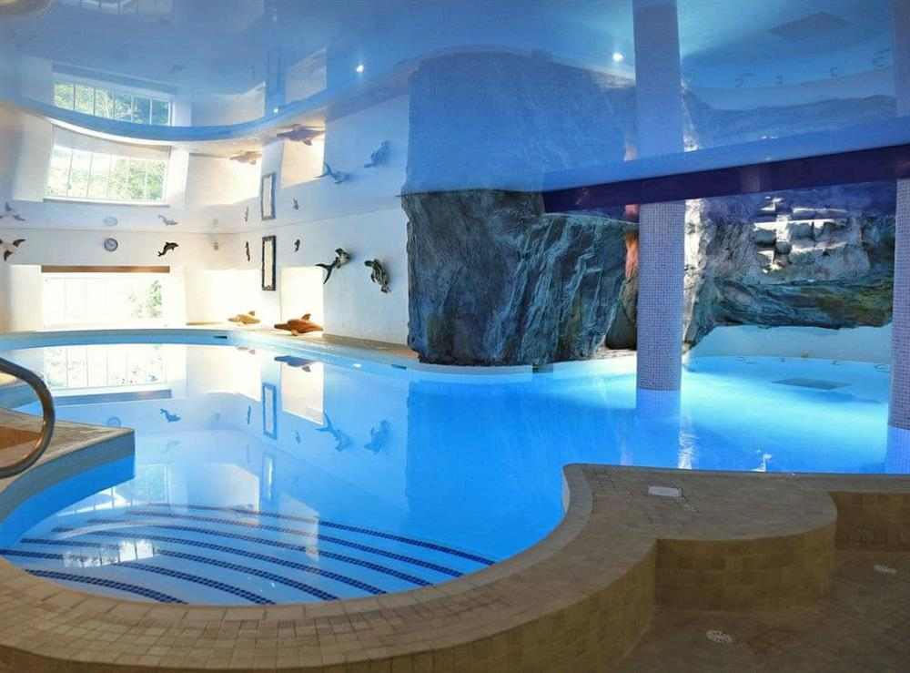 The Waterfall Pool at Turbine Cottage in Bow Creek, Nr Totnes, South Devon., Great Britain