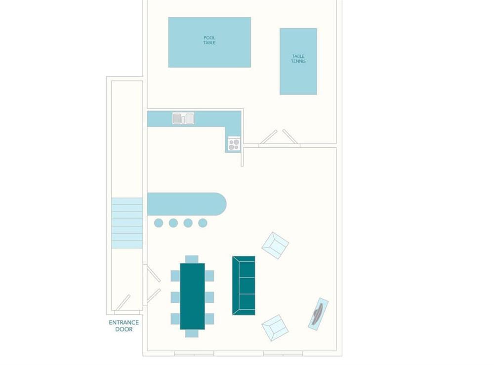 Turbine Cottage Floor Plan - Ground Floor at Turbine Cottage in Bow Creek, Nr Totnes, South Devon., Great Britain