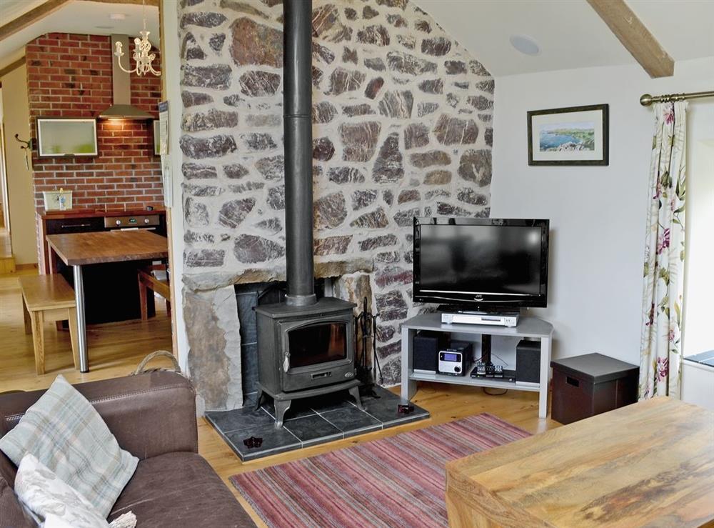 Living room at Ty Cam in Nr. Aberdaron, Gwynedd., Great Britain