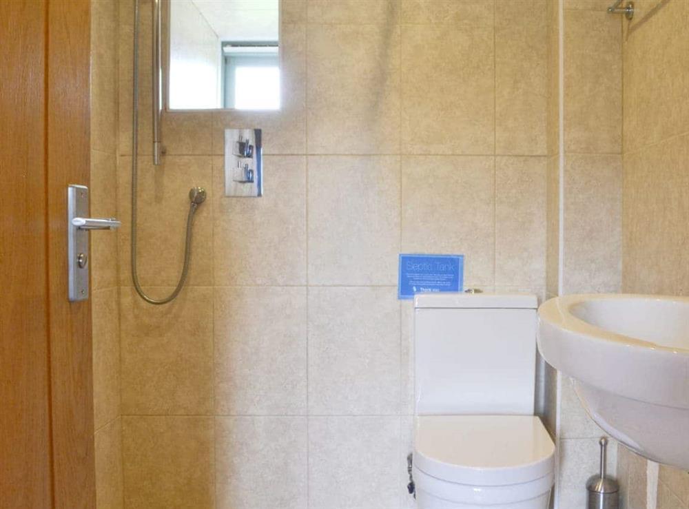 Shower room at Ty Cam in Nr. Aberdaron, Gwynedd., Great Britain