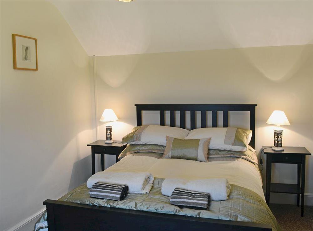Comfortable double bedroom at Ty Hen in Llangwnnadl near Pwllheli, Gwynedd