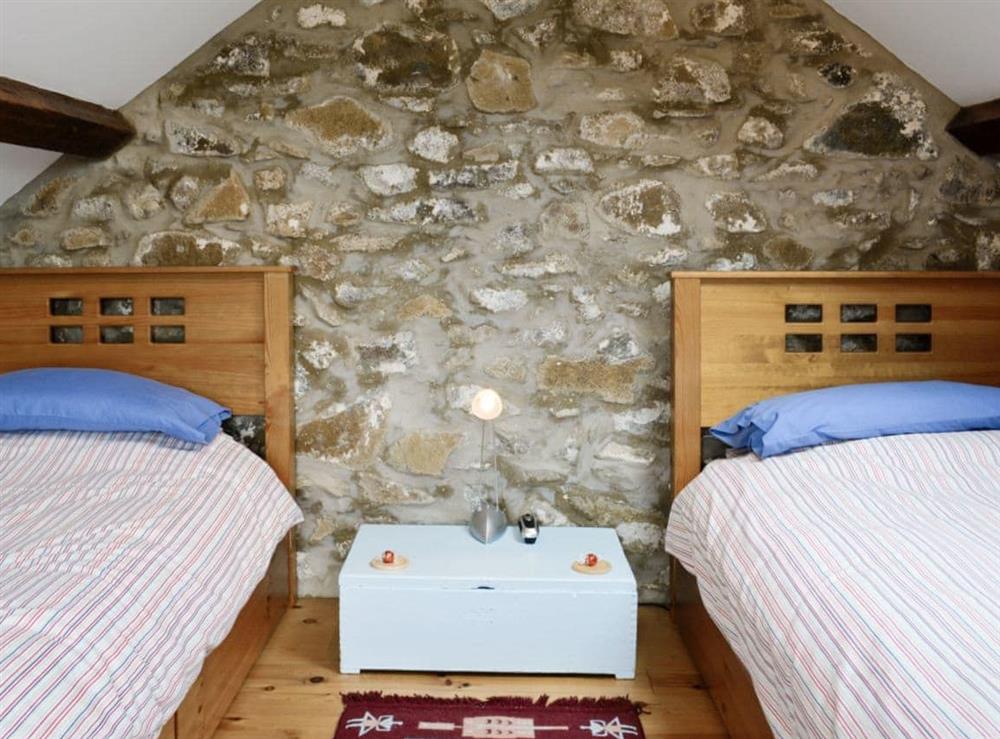 Twin bedroom at Ty Hir in Aberdaron, Pwllheli. , Gwynedd