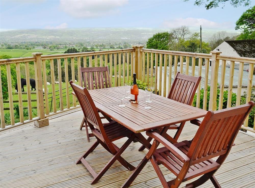 Sitting-out-area at Ty Nain in Llandyrnog, near Denbigh, Denbighshire